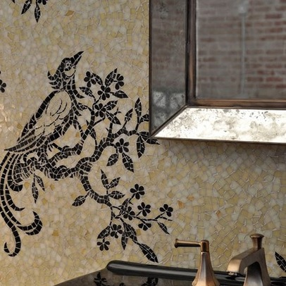 мозаичный рисунок в интерьере