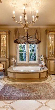 Интерьеры ванных комнат (158 фото)