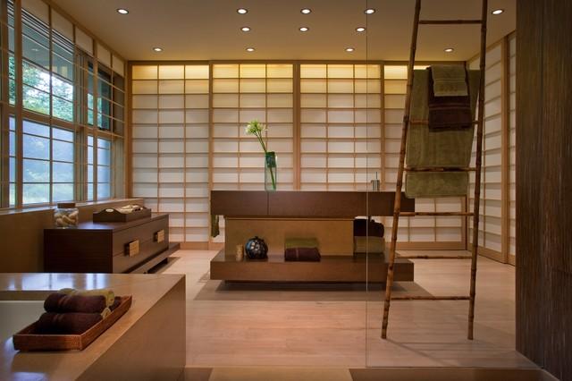 ванная в японском стиле фото 4