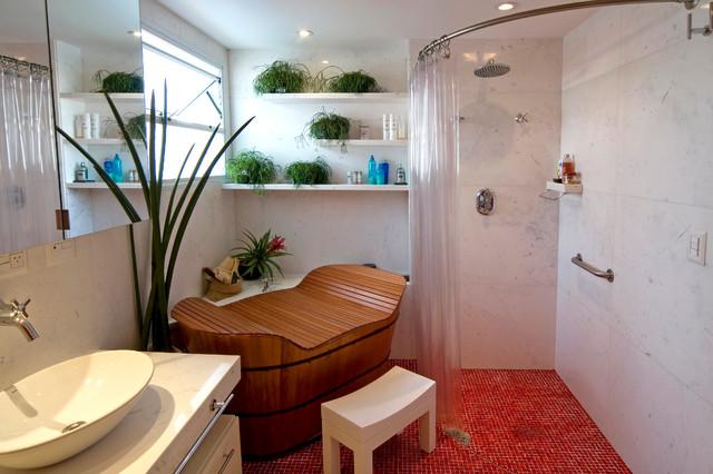 ванная в японском стиле фото 2