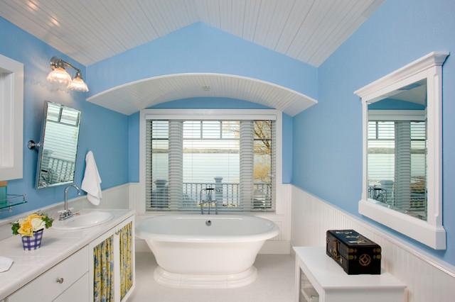 ванная в морском стил фото 2