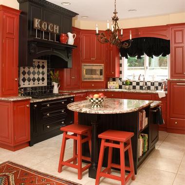 дизайн кухни в стиле ретро фото
