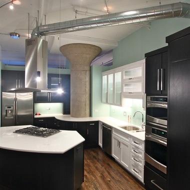 стиль лофт в интерьере кухни фото