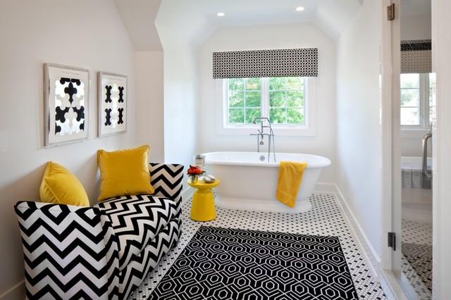черно-белый дизайн ванны фото