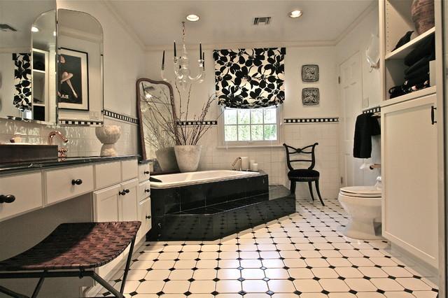 черно-белая ванная комната фото
