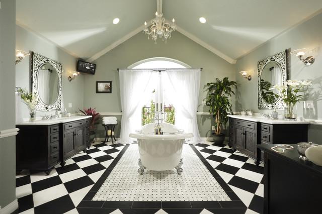 ванная в черно белых тонах фото