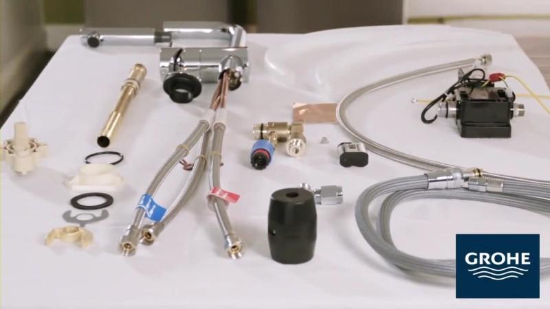 комплектность сенсорного смесителя